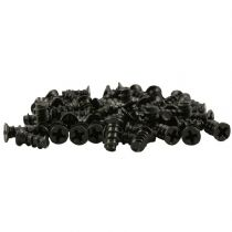 Pack of 50 Black Computer PC Case Fan Mounting Screws - 10mm Length
